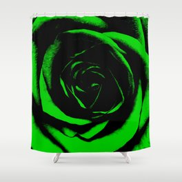 Green Rose : Pretty Flowers Shower Curtain