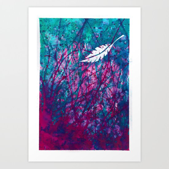 Floating Feather Art Print