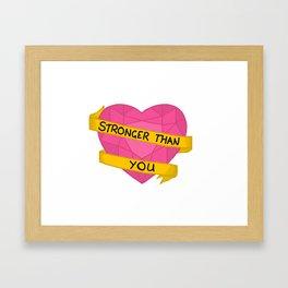 Stronger than you crystal heart Framed Art Print