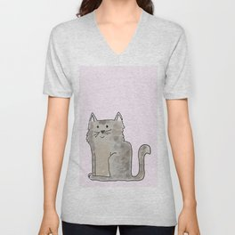 Cute and lovely cat Lupita Unisex V-Neck