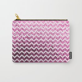 Glitter Sparkly Bling Chevron Pattern (pink) Carry-All Pouch