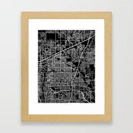 plano map texas Framed Art Print