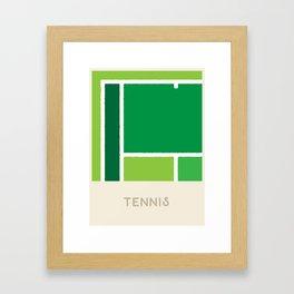 Tennis (Sports Surfaces Series, No. 23) Framed Art Print