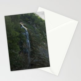 A small waterfall in the mountains Stationery Cards