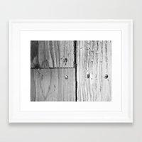 wooden Framed Art Prints featuring WOODEN  by mark jones