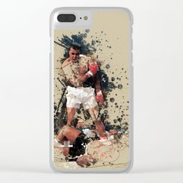 Ali Abstract Art Clear iPhone Case