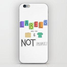 Labels iPhone Skin