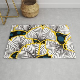 Ginkgo Biloba Leaves Cute Pattern Rug