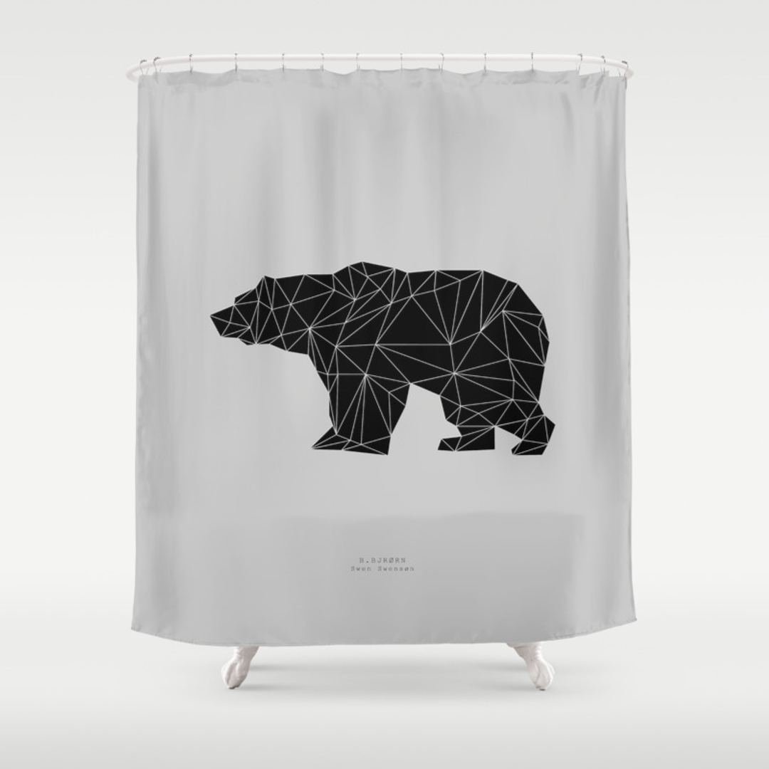Clear fish shower curtain - Cl Clear Fish Shower Curtain Black Shower Curtain Animals Black White Graphic Design And Vector