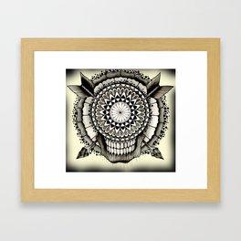 skull dala Framed Art Print
