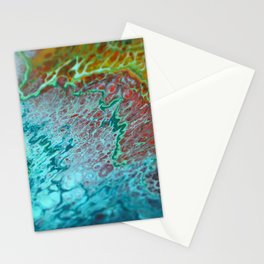 70's - Abstract Acrylic Pour Stationery Cards
