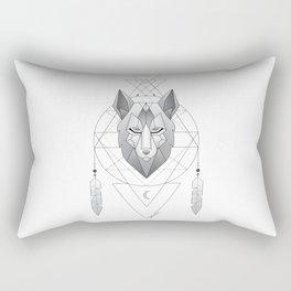 Geometric Wolf Dream Catcher Rectangular Pillow