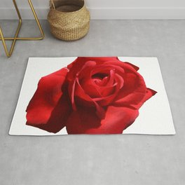 Red Rose Isolated Rug