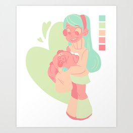 Pastel Mabel Art Print
