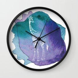 Color Spot Safari Giraffe Wall Clock