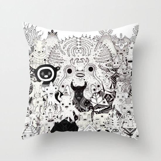 Skool Daze ii Throw Pillow