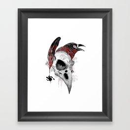 DARK WRITER Framed Art Print