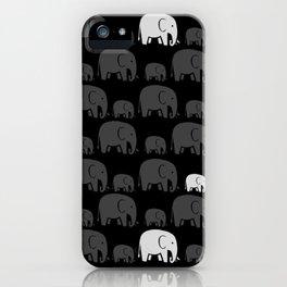 Elephant Black iPhone Case