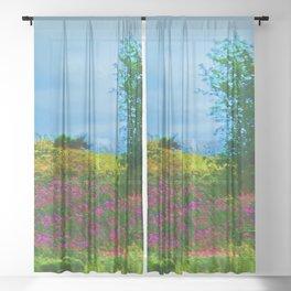 Scottish Weeds Sheer Curtain