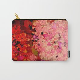 Two Different Worlds -- Floral Pattern Carry-All Pouch