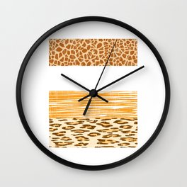 Looking for a Unique T-shirt Design Of A Wild Life? Here's An Amazing T-shirt Tiger Zebra Lion Wall Clock