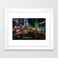 Psychedellic City Framed Art Print