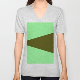 just two colors 6: dark and light green Unisex V-Neck