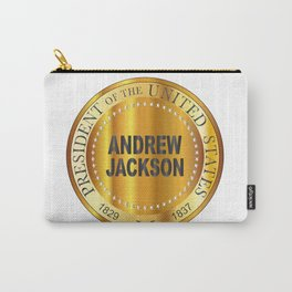 Andrew Jackson Gold Metal Stamp Carry-All Pouch