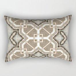 Victorian Art Deco Medieval Pattern light gray SB27 Rectangular Pillow