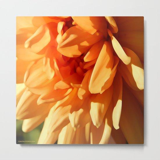 Vermont Autumn Golden Flower Metal Print