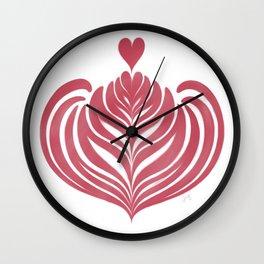 Tulip Rosetta in Rose Wall Clock