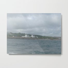 White Cottages on Anglesey, Wales Metal Print