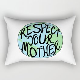 Respect Your Mother Earth Hand Drawn Rectangular Pillow