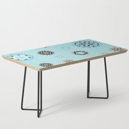 Blue Mandala, Pattern, Digital Design, Shapes Coffee Table