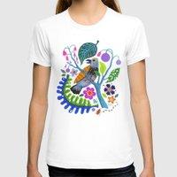 botanical T-shirts featuring Bird Botanical by Janna Morton