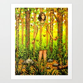 The Falling Leaves Art Print