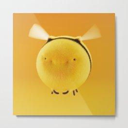 Fluffy Bee #3 Metal Print