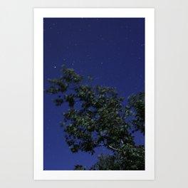 Full Moon Abstract  Art Print