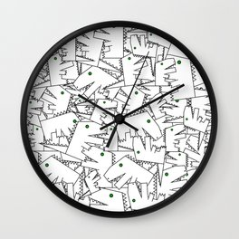 Line art - Crocodile Wall Clock