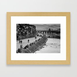 Kamo-gawa, Kyoto Framed Art Print