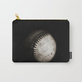 Battered Baseball in Black and White Carry-All Pouch