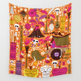 Tiki Freaks do the Hulaween Wall Tapestry