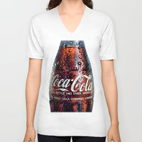 coca cola V-neck T-shirts featuring The Real... by LesImagesdeJon
