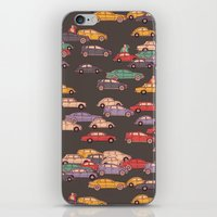 mercedes iPhone & iPod Skins featuring Never-ending traffic jam by smallDrawing