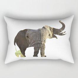 Elephant Cutout 2 Rectangular Pillow