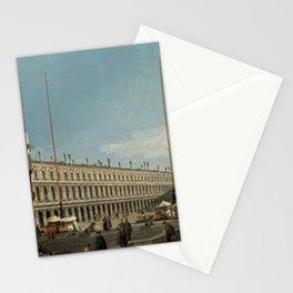 Canaletto - The Piazza San Marco, Venice, looking towards the Procuratie Nuove and the Church of San Stationery Cards