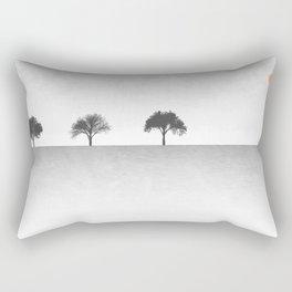 Tree Artwork Grey And Black Landscape Rectangular Pillow