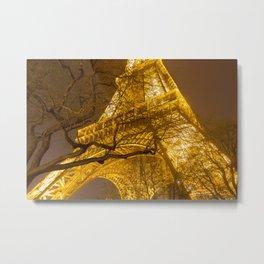Golden Eiffel  Metal Print
