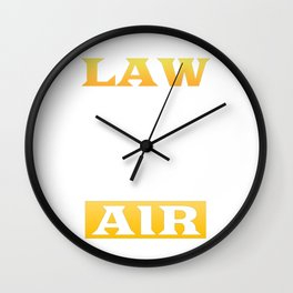Law Is In The Air Lawyer Attorney Judge Solicitor Wall Clock