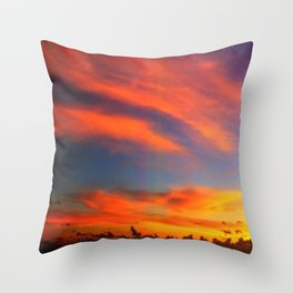 Tahiti South Pacific Sunset Throw Pillow